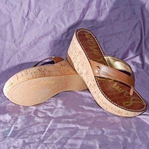 Sam Edelman Wedge Thong Sandals size 6